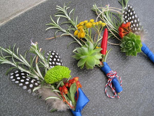 cvetici za kicenje svatova plavi