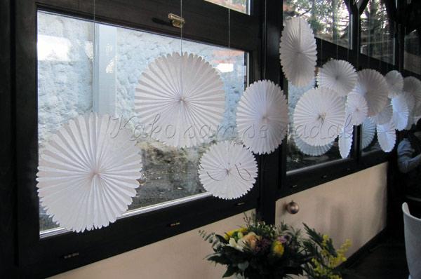 dekoracija vencanja papirni ukrasi